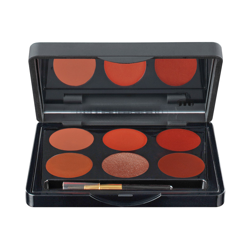 Lipcolourbox Lip palette met 6 kleuren - Brown 2