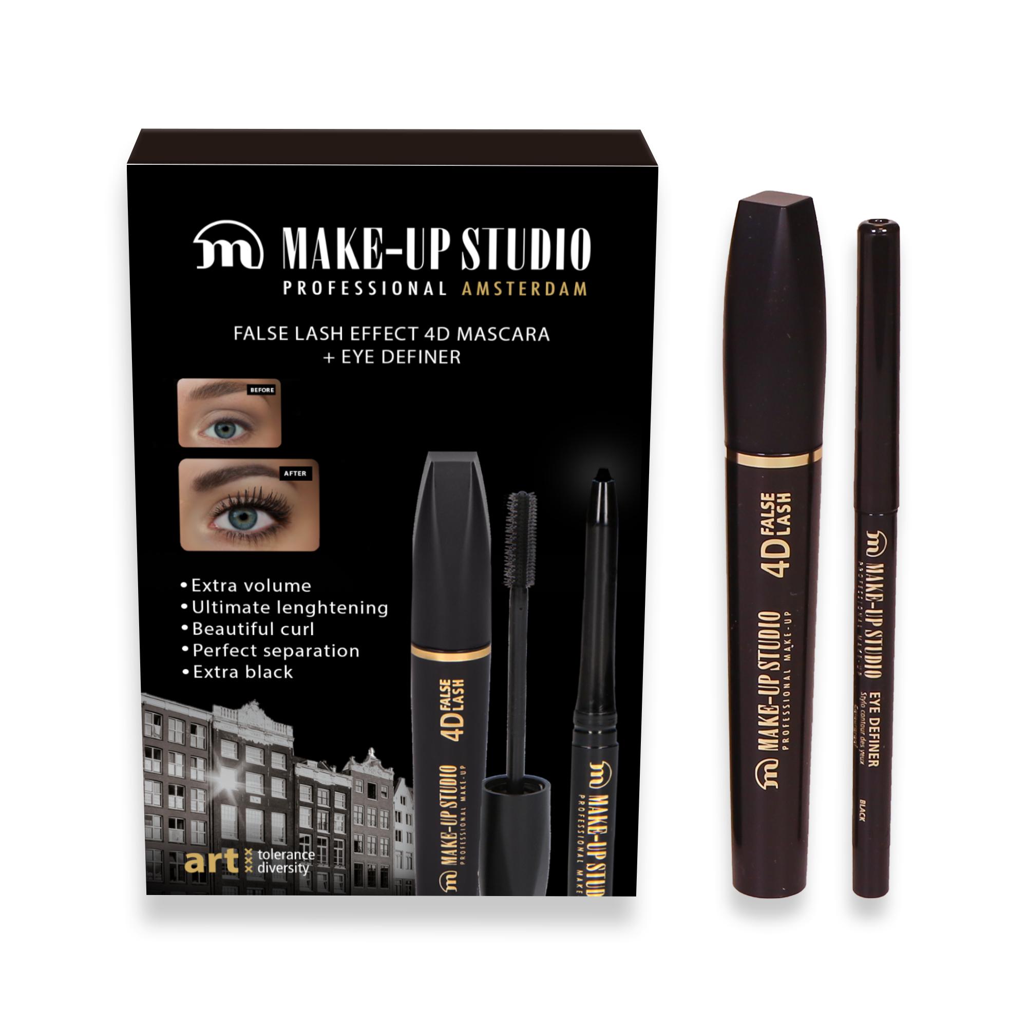 Giftbox Eyes - Mascara 4D Extra Black + Eye Definer