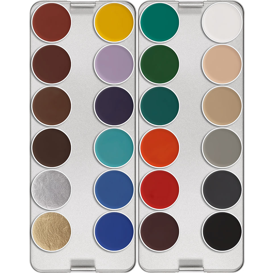 Aquacolor Waterschmink palette  - K