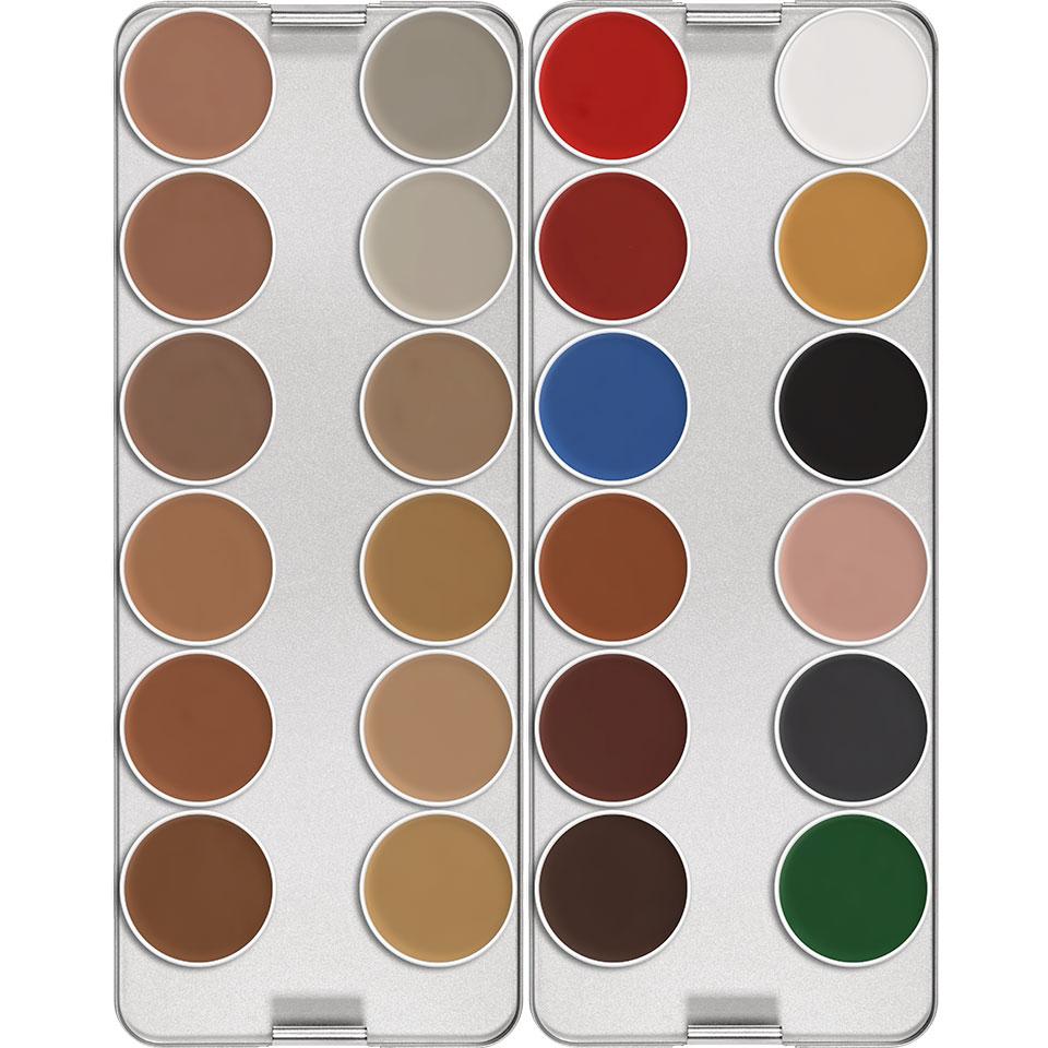 Aquacolor Waterschmink palette  - N