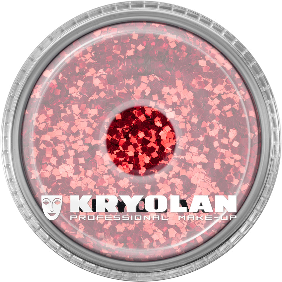Polyester Glimmer - bright red
