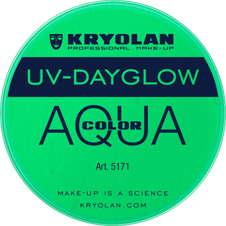 Kryolan Aquacolor UV-Dayglow Waterschmink - UV green