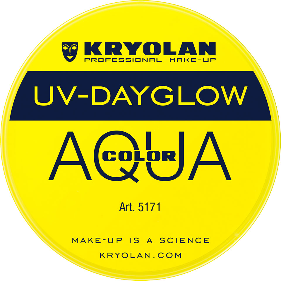 Kryolan Aquacolor UV-Dayglow Waterschmink - UV yellow